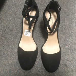 Nwob Christian siriano /payless black suède heels